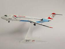Austrian Airlines Fokker 100 1/200 Herpa 557719 skopje OE-lvd f100