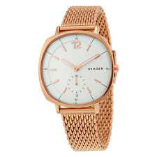 Skagen Rungsted White Dial Rose Gold-tone Ladies Watch SKW2401