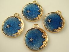2pcs DIY moon stars Metal Charm Pendant Necklace Bracelet earring Jewelry sd9d0