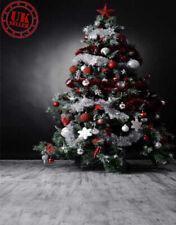 CHRISTMAS SALE GREY ROOM POSH GREEN TREE BACKDROP VINYL PHOTO 5X7FT 150X220CM