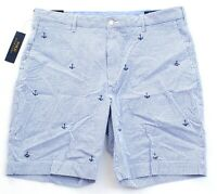 Polo Ralph Lauren Blue & White Stripe Stretch Classic Fit Shorts Men's NWT