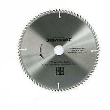 Silverline 598444 TCT UPVC Window Blade 80t 250 X 30-25 20 16 Mm Rings