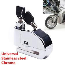 Stainless Steel Motorcycle Brake Disk Security Alarm Anti-theft Wheel Disc Lock