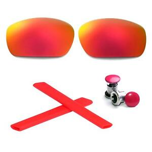 Walleva Polarized Titanium Lenses And Rubber Kit And Bolts For Oakley Jawbone