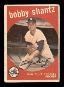 1959 Topps Set Break # 222 Bobby Shantz GD *OBGcards*