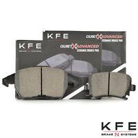 REAR NEW Set With Shims KFE635 KFE636 Premium Ceramic Disc Brake Pad FRONT