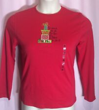 "MC Sportswear S ""so much to do so few elves to do it"" Christmas Holiday Top K3"