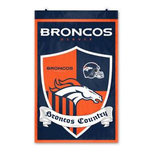 Denver Broncos Team Shield Banner Flag NFL Football 37 3/8x23 5/8in