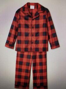 Toddler Holiday Buffalo Check Flannel Matching Family Pajama Set Size 12 Mo - NW