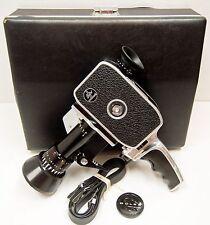 CAMERA PAILLARD BOLEX - modèle ZOOM REFLEX P1 - 8 mm -1962 -N° A 25397 + POIGNEE