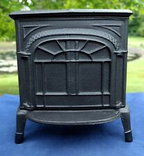 "Vermont Castings Coin Savings Bank Cast Iron ""Intrepid"" Stove Vintage Miniature"