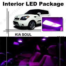 For Kia Soul 2011-2013 Pink LED Interior Kit + Pink License Light LED