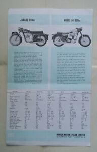 Norton 650SS Atlas 88 ES2 Jubillee  Motorcycle Sales Brochure Original 1965-66