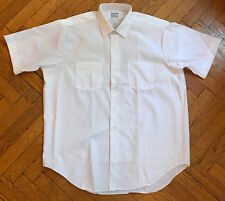 RaRe NOS Vintage 80s Frederick & Nelson's SS Mens White Executive Shirts, 16.2