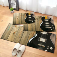Vintage Wood Retro Guitar Area Rug Bedroom Floor Carpet Living Room Kitchen Mat
