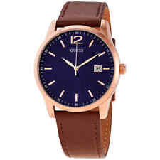 Guess Perry Quartz Blue Dial Brown Leather Men's Watch W1186G3