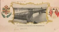Postcard Steel Bridge Fraser River New Westminster B.C. 1906 Canada Vintage B02