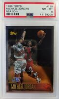 1996 TOPPS NBA AT 50 Michael Jordan #139, Rare Graded PSA 8