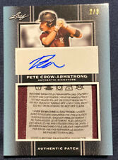 2019 Leaf Perfect Game Showcase PETE CROW-ARMSTRONG LAUNDRY TAG AUTO 2/3 🔥