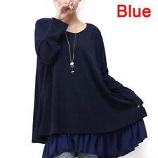 Women's Plus Size Dress Knitted Sweater Oversize Knitwear Loose Pullover STT Wine Red M