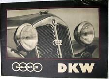 AUTO UNION DKW Original Car Sales Brochure 1939 #D1617 a (9.38.6) schwed. Swed