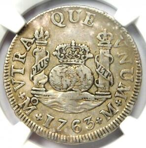 1763-MO M Mexico Pillar 2 Reales Coin (2R) - Certified NGC XF45 (EF45)