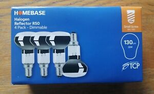 Pack of 4 x Halogen Reflector R50 Light Bulbs 28W Small Screw -Dimmable