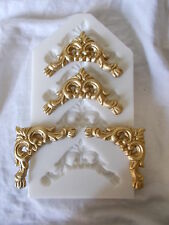 BRAND NEW SILICONE RUBBER MOULD MAKES FOUR PICTURE FRAME REGENCY CORNERS DIY