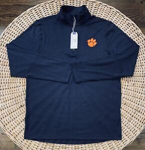 Southern Tide Clemson Tigers Men's 1/4 Zip Pullover Jacket Size Medium Navy Blue