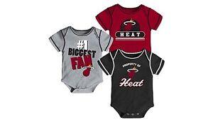 NWOT Miami Heat Boys Infant Baby Bodysuit Onesie Creeper T-Shirt Shirt Gerber