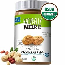 Naturally More Organic All Natural Valencia Peanut Butter-Probiotic Roasted Flax