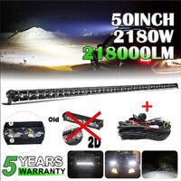 "50""inch Slim LED Work Light Bar Combo Truck Offroad 4WD SUV UTV Boat Driving 52"""