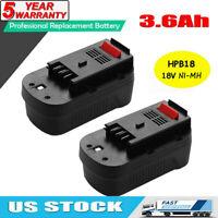 2x 18V NiMH Battery for Black & Decker HPB18 HPB18-OPE 244760-00 Firestorm Tool