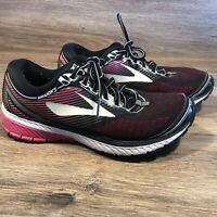 Brooks Ghost 10 Women's Road Running Shoes Black Pink Coral Size 8.5