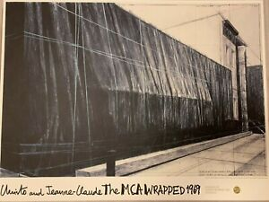 Christo and Jeanne-Claude Limited Edition Show Poster Chicago MCA Contemporary
