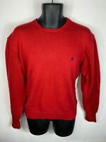 VTG Polo Ralph Lauren Cotton Knit Large Long Sleeve Crew Neck Pullover Sweater