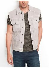 Guess Lucas Denim Vest In Asteroid Wash Size S