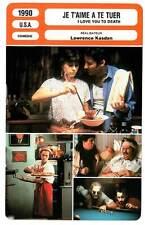 FICHE CINEMA : JE T'AIME A TE TUER - Kline,Ullman,Hurt 1990 I Love You To Death