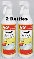 2 X HG HAGESAN MOULD MILDEW SPRAY BOTTLE - SHOWER BATH FUNGUS CLEANER H G 500ml