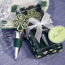 Shamrock Trinity Love Knot Wine Bottle Stopper Wedding Favor Celtic Irish Drink