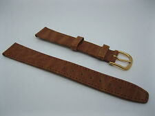 Swiss Made Leather Watch Strap 16mm Tan Genuine Fortis New Old Stock