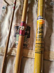 vintage milbro fiberglass 12ft salmon rod