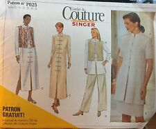 NEW & VINTAGE 1996 SINGER COUTURE  SEPARATES SEWING PATTERN P025 12-22
