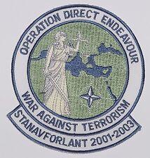NATO Aufnäher Patch Operation Direct Endeavour SNFL 2001-2003 .......A3520