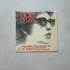 BOB DYLAN - FRENCH  EP 45T VINYL BIEM - POSITIVELY 4TH STREET + 3