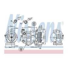 Fits Volvo V70 MK3 T6 AWD Genuine OE Quality Nissens A/C Air Con Compressor
