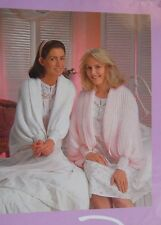 "LADIES  BED WRAPS~4 ply / DK KNITTING PATTERN SIZE CUFF TO CUFF 50"" ADJUST (R17)"