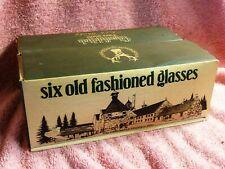 Glenfiddich Vintage Pure Malt Scotch whisky glasses a set of 6 in Original Box