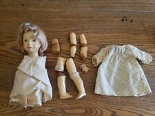 "Rare 1908 Antique German Munich Art Composition Doll 13"""