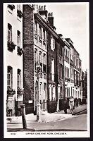 Upper Cheyne Row Chelsea SW3 London England Postcard RPPC Real Photographic RP